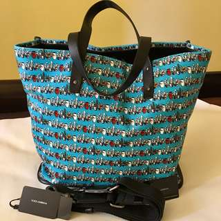Dolce & Gabbana Canvas Tote Bag with Shoulder Strap