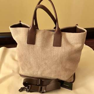 Dolce & Gabbana Canvas Tote Bag with Shoulder Strap