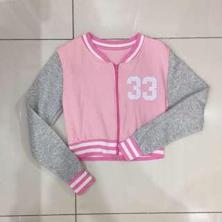 Baseball style Pink Outerwear