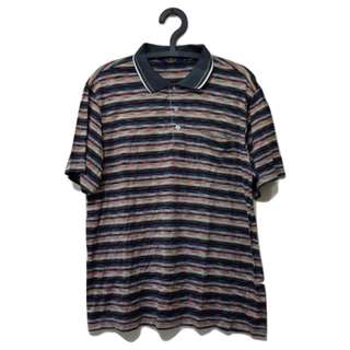 第二件 8 折🎉橫條復古配色polo衫 古著 二手 復古