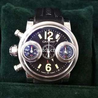 Used Graham Swordfish Left Hand Stainless Steel Automatic 46mm Full Set  - Our price RM11600.00 incl. 6% gst
