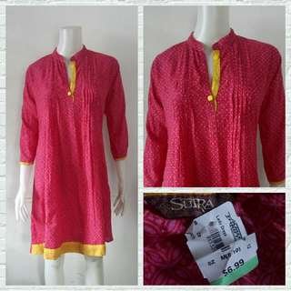 Sutra Red Indie Dress