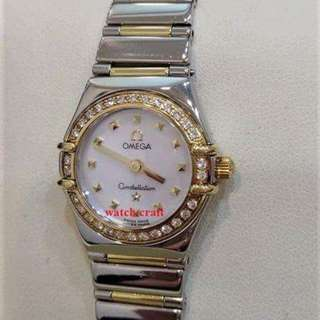 Used Omega Constellation Ladies My Choice Diamond Series Quartz 18K/SS 22.5mm - Best Deal price : RM5990.00 Nett  incl. 6% gst