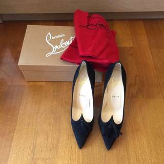 New Christian Louboutin Suede Tassel pump