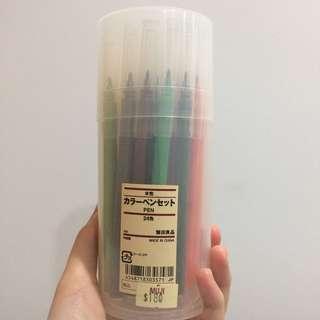MUJI 無印良品 - 24色彩色筆