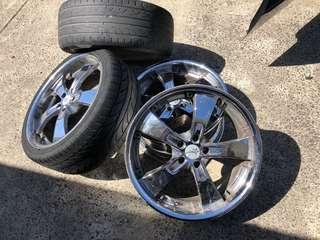 "Chrome Wheels 20"""