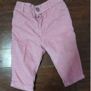 Next Corduroy Pants in Pink for Baby Girls