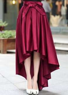 Fashion Burgundy Chiffon Highwaist