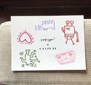Coach x Keith Haring 紋身貼紙