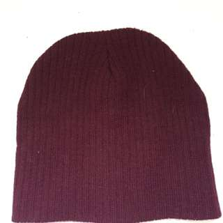 Small red burgundy hat