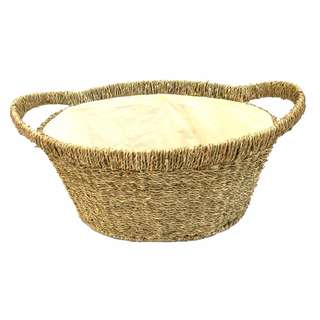 WEAVE & WOVEN Oval Seagrass Basket (VPO-701853)