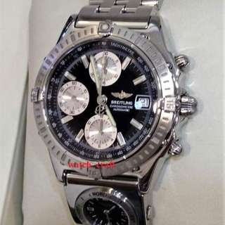 Used Breitling Chronomat UTC Time Zone S/S 40mm Automatic  - Our price : RM8500.00 incl. 6% gst
