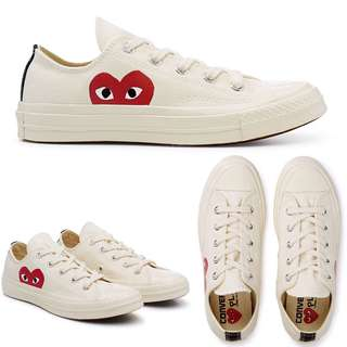 Women's Comme Des Garcons Play Chuck Taylor Sneakers