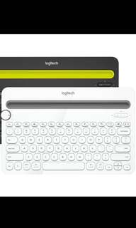 Logitech bluetooth keyboard white K480 羅技白色藍牙鍵盤 多裝置切換