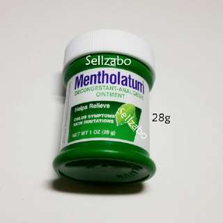 Decongestant Mentholatum Analgesic Ointment Relieves Colds Blocked Nose Running Flu Skin Irritations Cream