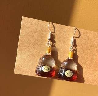 XO bottle earrings