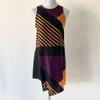 Yeojin Bae Silk Stripe Dress Size 1 / UK 8