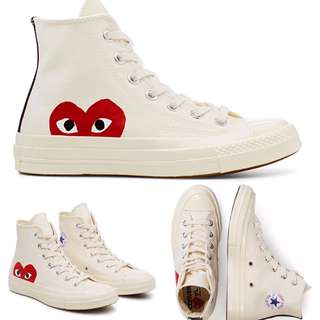 Women's Comme Des Garcons Play Chuck Taylor High-Tops