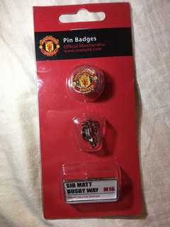 購自英國 奧脫福 曼聯Official Manchester United Pin Badges
