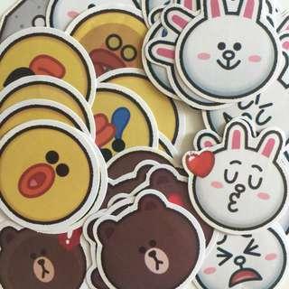 LINE round chub cheeks stickers