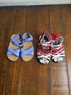 Gymboree and Disney Sandals