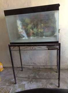 Aquarium tank glass and stand for sale