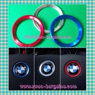 BMW Steering Wheel Emblem Badge Ring Aluminum Alloy Decorative Trim E53 E70 E83 E84 E90 E91 E92 E93 F10 LCI F01 F02