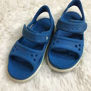 [PL] Children Kids Toddler Crocs Sandal Shoes Footwear Waterproof Slippers Blue Boys