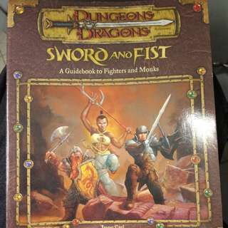 Dungeons & dragons sword and fist