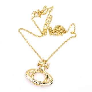 Vivienne Westwoos necklace 金 頸鍊 全新