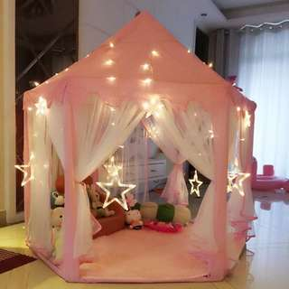Kids pink Tent free carpet and free lights gifts for daughter niece and goddaughter