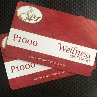 The Spa Wellness Gift Card