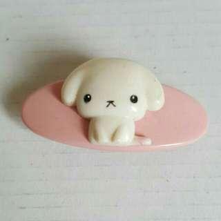 Cute Dog Pink Hair Clip From Taiwan