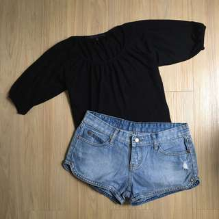 Giordano 3/4 Top (Black)