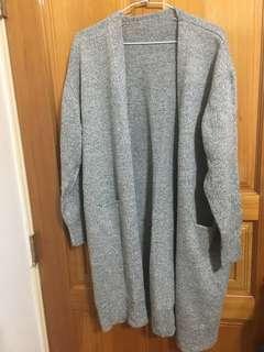 🚚 長版灰色外套 全新