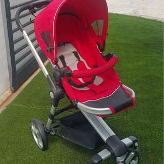 Halford Zuzz 4 Stroller (Red) - Preloved