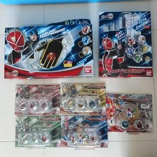 Kamen Rider / Masked Rider Wizard Belt, holder and Rings set