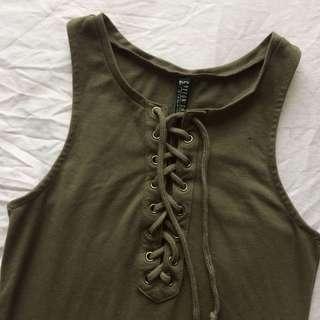 Lace Up Midi/Maxi Bodycon Dress
