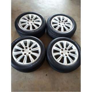 4PCS ORIGINAL PROTON PREVE SPORT-RIM AND TYRE