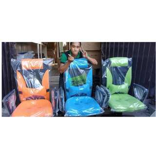 KHOMI--HB-9002H MIDBACK CHAIRS - ORANGE  BLUE & GREEN