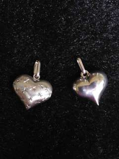 Authentic 18K White Gold Heart Pendant (Tianpo)