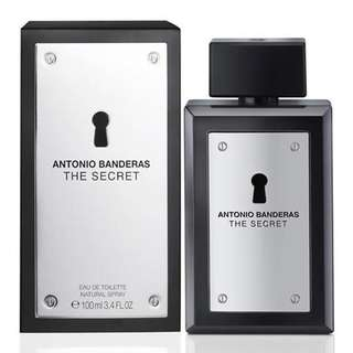 Antonio Banderas The Secret EDT for Men (100ml) Black Silver