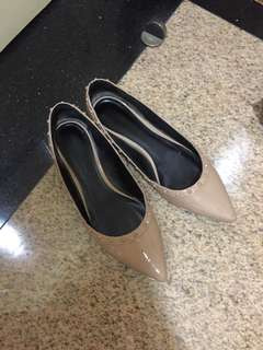 charles keith nude flats