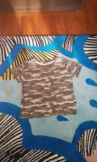 Camouflage T-shirt 5-6yrs