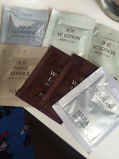Haba sample set 洗面/lotion/whitening toner