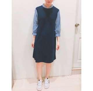 Pazzo拼接袖洋裝