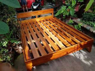 Free Delivery- Double Bed Mahogany Wood