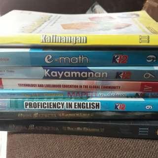 GRADE 9 AND 8 BOOKS/ TEXTBOOKS