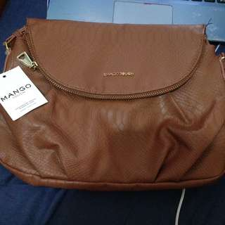 Authentic Brand New Mango Sling bag mahogany
