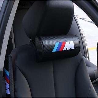🚚 寶馬bmw mpower碳纖維座椅頭枕 頸枕F10 11 18 13 25 15 30 E36 46 90 91 30